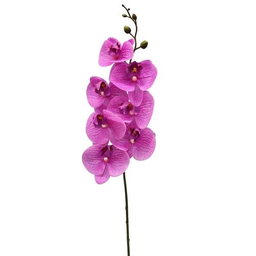 Орхидея Фаленопсис искусственная сиреневая 84 см (real touch)