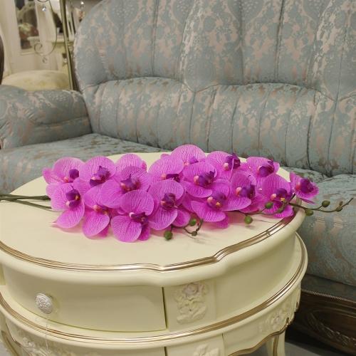 Орхидея Фаленопсис искусственная сиреневая 84 см (real touch) - Фото 2