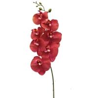 Орхидея Фаленопсис искусственная красная 84 см (real touch)