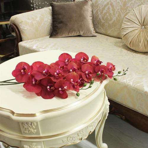 Орхидея Фаленопсис искусственная красная 84 см (real touch) - Фото 2