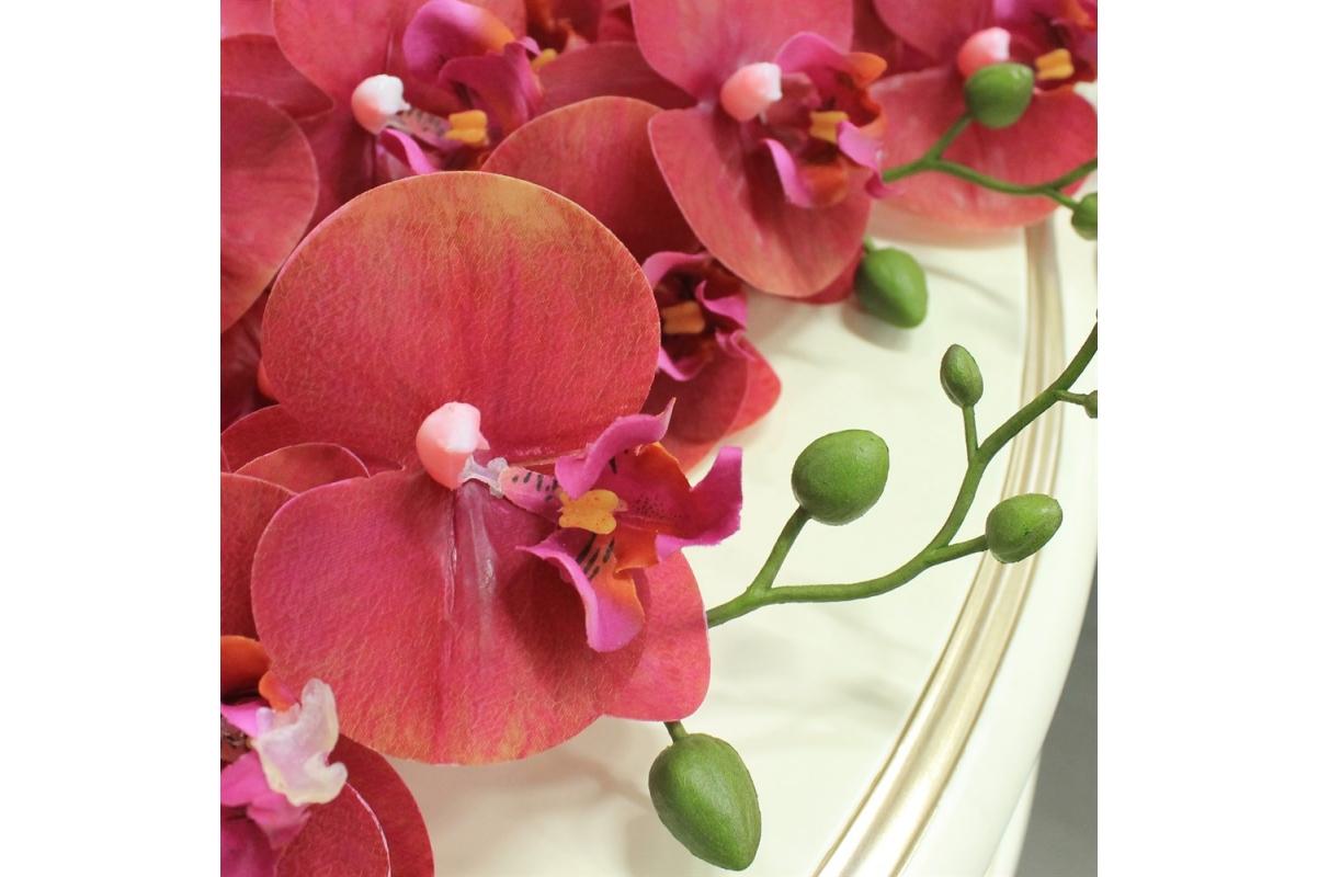 Орхидея Фаленопсис искусственная красная 84 см (real touch) - Фото 3