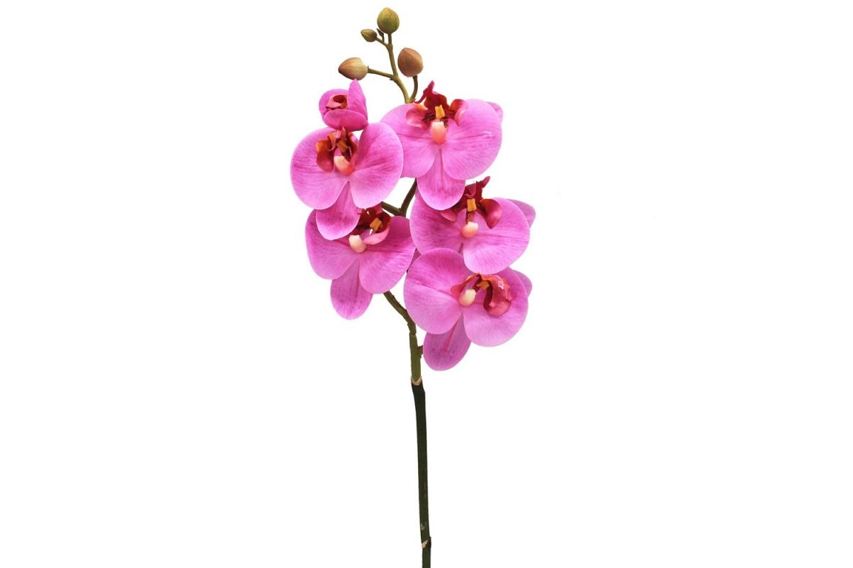 Орхидея Фаленопсис искусственная сиреневая 69 см (real touch)