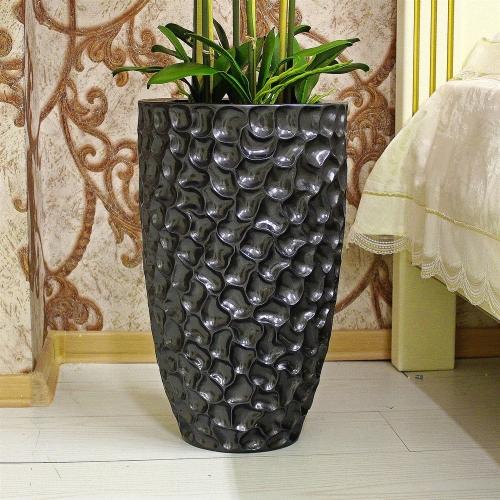 Композиция Орхидея Фаленопсис 6 веток искусственная сиреневая в кашпо 135 см - Фото 4