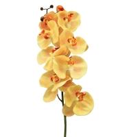 Орхидея Фаленопсис искусственная желтая 115 см (real touch)
