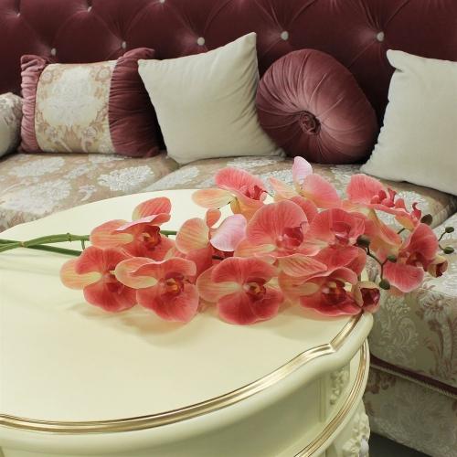 Орхидея Фаленопсис искусственная светло-розовая 115 см (real touch) - Фото 2