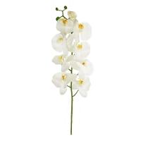 Орхидея Фаленопсис искусственная белая 115 см (real touch)