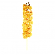 Орхидея Фаленопсис искусственная желтая 100 см (real touch)