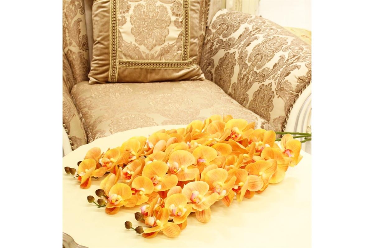 Орхидея Фаленопсис искусственная желтая 100 см (real touch) - Фото 2