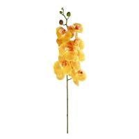 Орхидея Фаленопсис искусственная желтая 105 см (real touch)