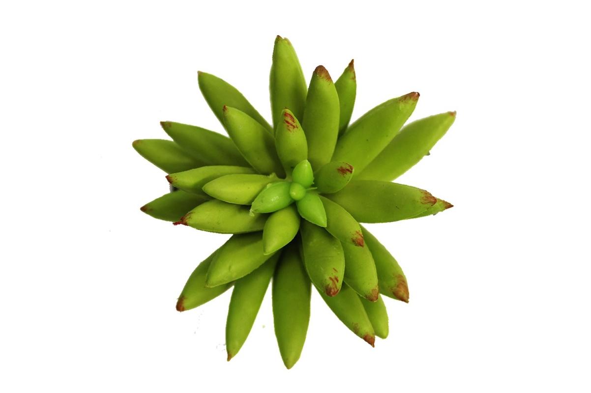 Суккулент малый искусственный зеленый 8 см - Фото 2