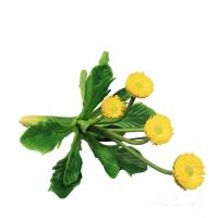 Маргаритка куст искусственный желтый 12 см