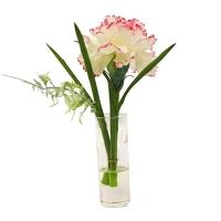 Композиция Гвоздика в стеклянной вазе 22 см