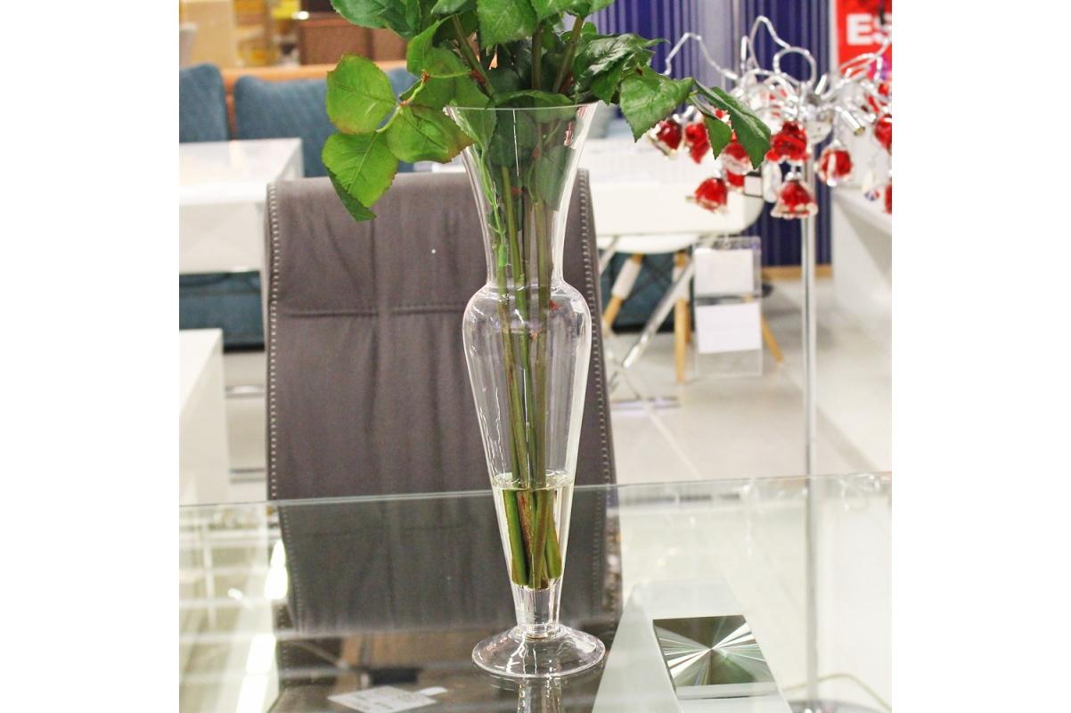 Композиция из Роз искусственная в малой стеклянной вазе леди с водой 69 см - Фото 4
