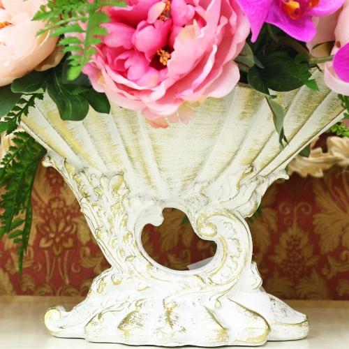 Композиция Пионов, Роз и Орхидеи искусственная микс в греческой вазе 40 см - Фото 4