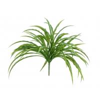 Трава Ванилла Грасс искусственная зелено-белая 20 см