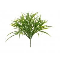 Трава Ванилла Грасс искусственная зеленая большой куст 27 см