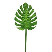 Лист Монстеры искусственный зеленый 73 см (real touch)
