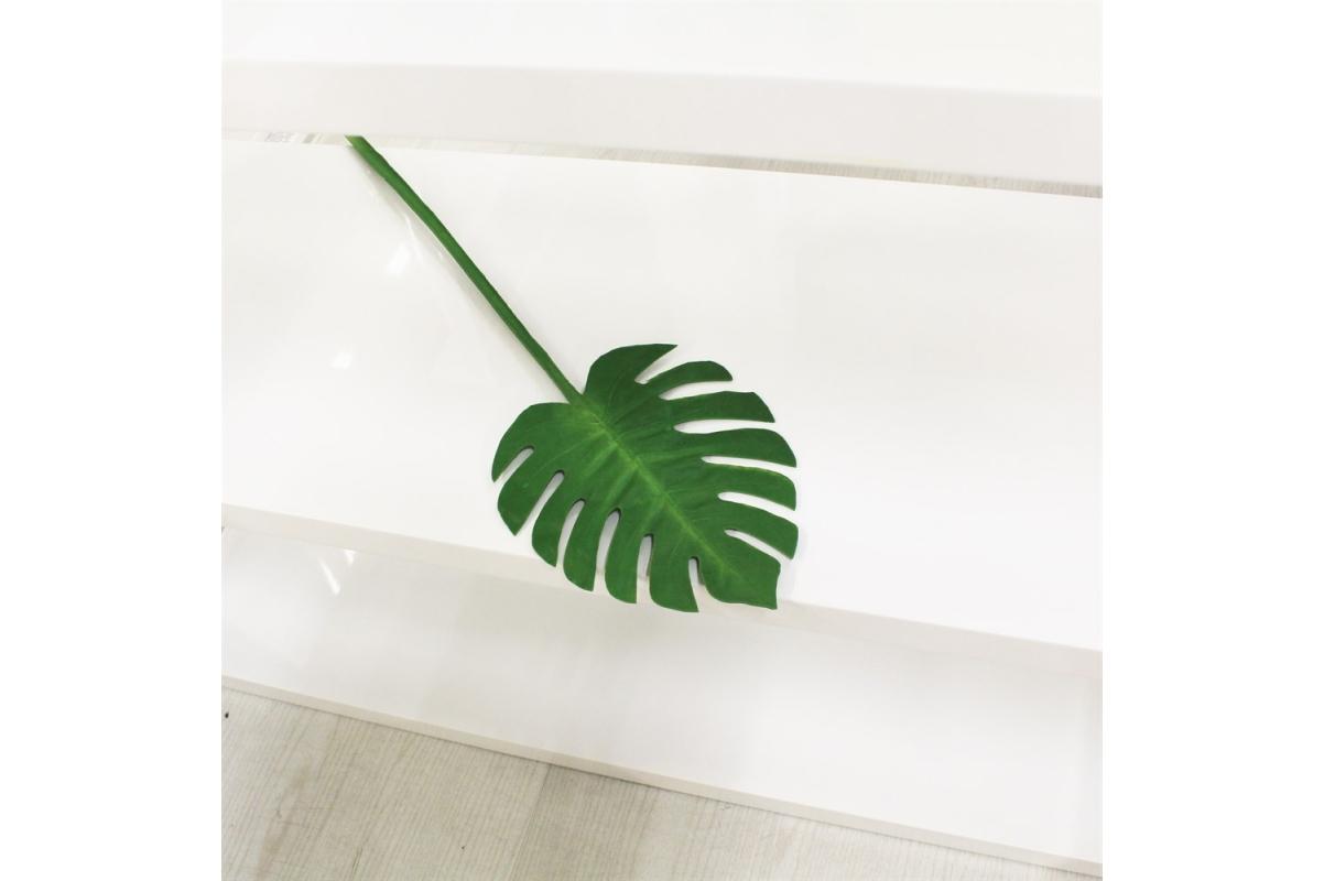 Лист Монстеры искусственный зеленый 73 см (real touch) - Фото 2