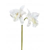 Орхидея Каттлея крупная искусственная белая 42 см MDP (real touch)