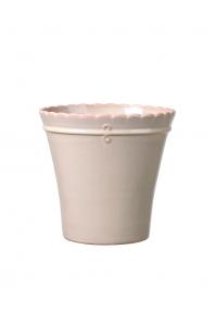 Кашпо deroma macrame 17 cream d17 h16 см