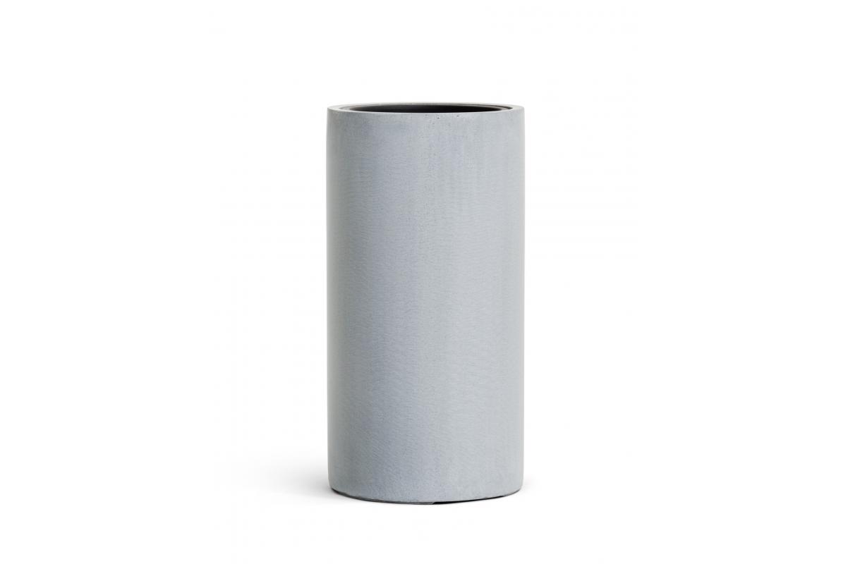 Кашпо TREEZ Effectory Beton высокий цилиндр серый ледник от 60 до 80 см - Фото 2