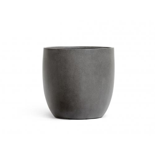 Кашпо TREEZ Effectory серия Beton округлый конус темно-серый бетон от 28 до 48 см - Фото 2