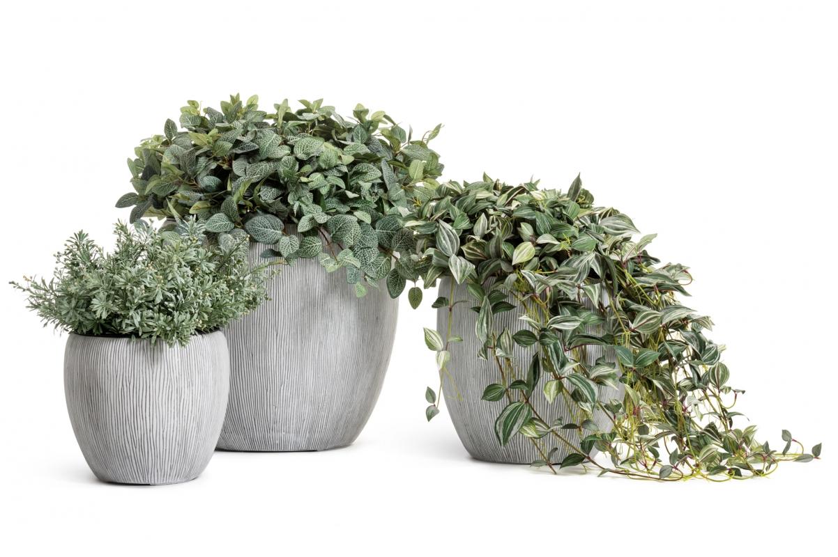 Кашпо Treez Effectory Wow конус чаша слоновая кость от 28 до 46 см - Фото 7