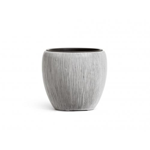 Кашпо TREEZ Effectory серия Wow конус чаша слоновая кость от 28 до 46 см - Фото 4