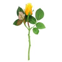 Роза бутон искусственная желто-оранжевая 30 см