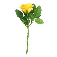 Роза искусственная желтая 30 см