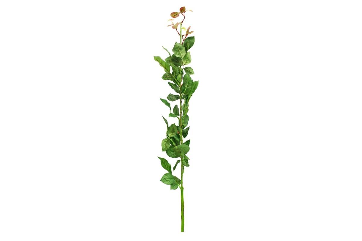 Ветвь Розы искусственная зеленая 120 см