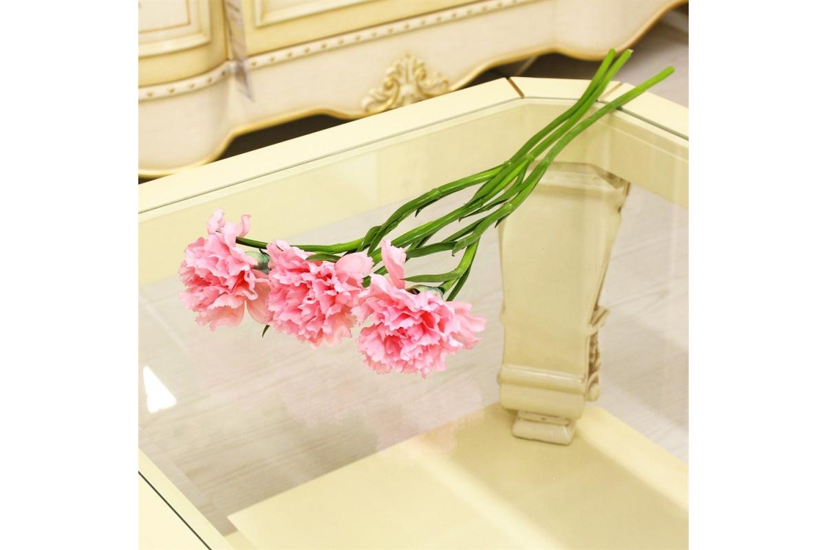 Гвоздика искусственная розовая 60 см - Фото 2