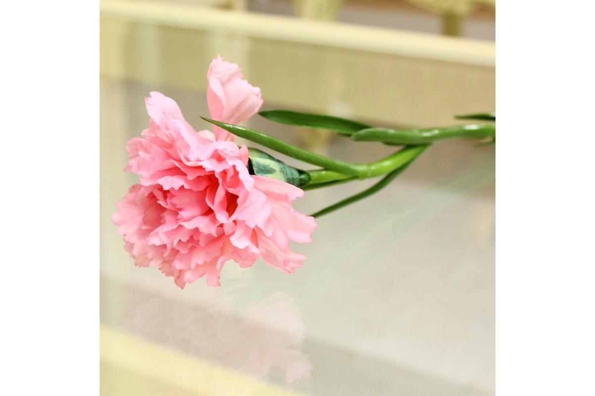 Гвоздика искусственная розовая 60 см - Фото 3