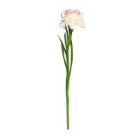 Гвоздика искусственная бело-розовая 60 см