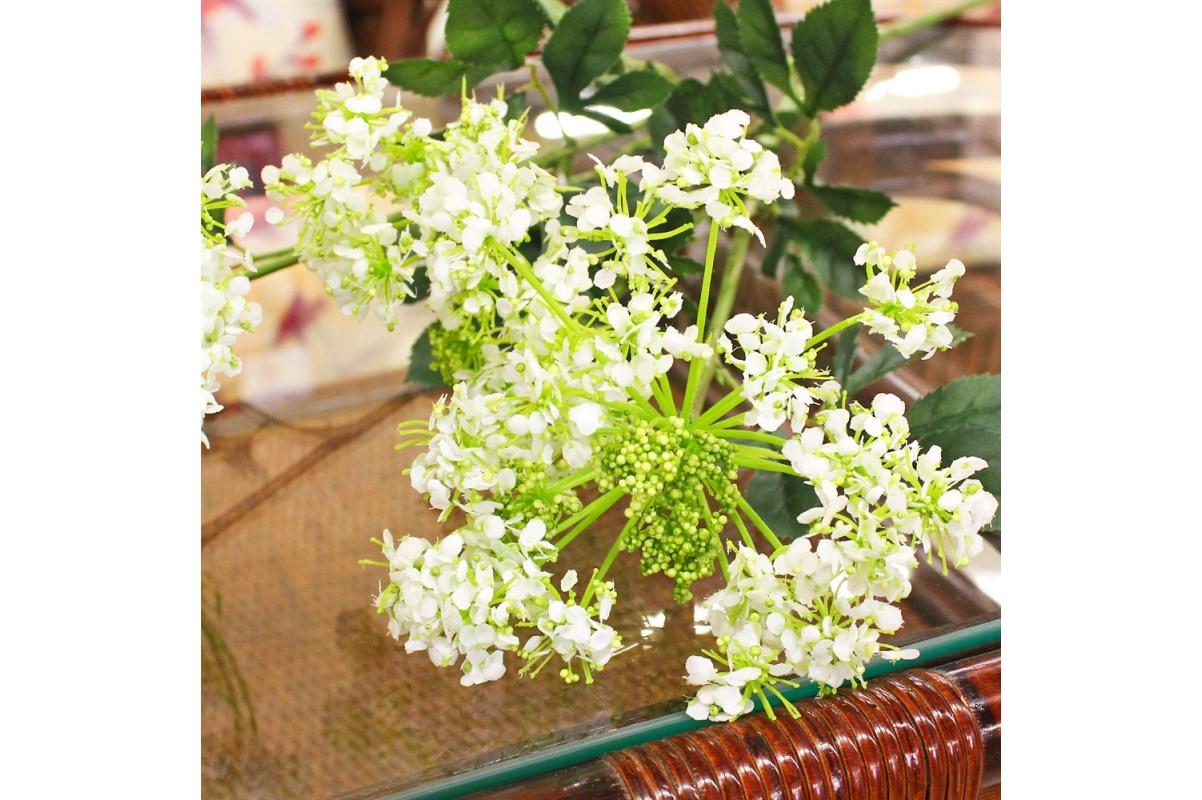 Амми цветущий искусственный белый 75 см - Фото 3