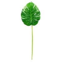 Лист Монстеры искусственный зеленый 90 см
