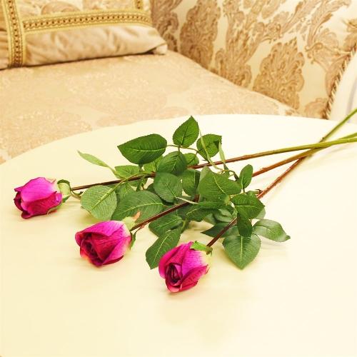 Роза Анастасия искусственная розовая 75 см - Фото 2