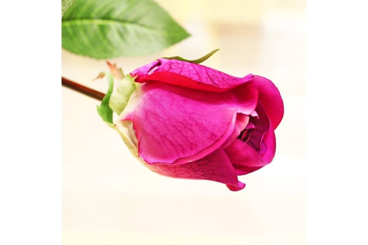 Роза Анастасия искусственная розовая 75 см - Фото 3