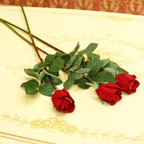 Роза Анастасия искусственная красная 75 см - Фото 2