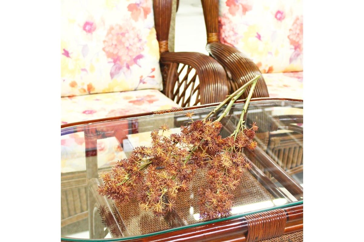 Аралия ветка искусственная коричневая 80 см - Фото 2