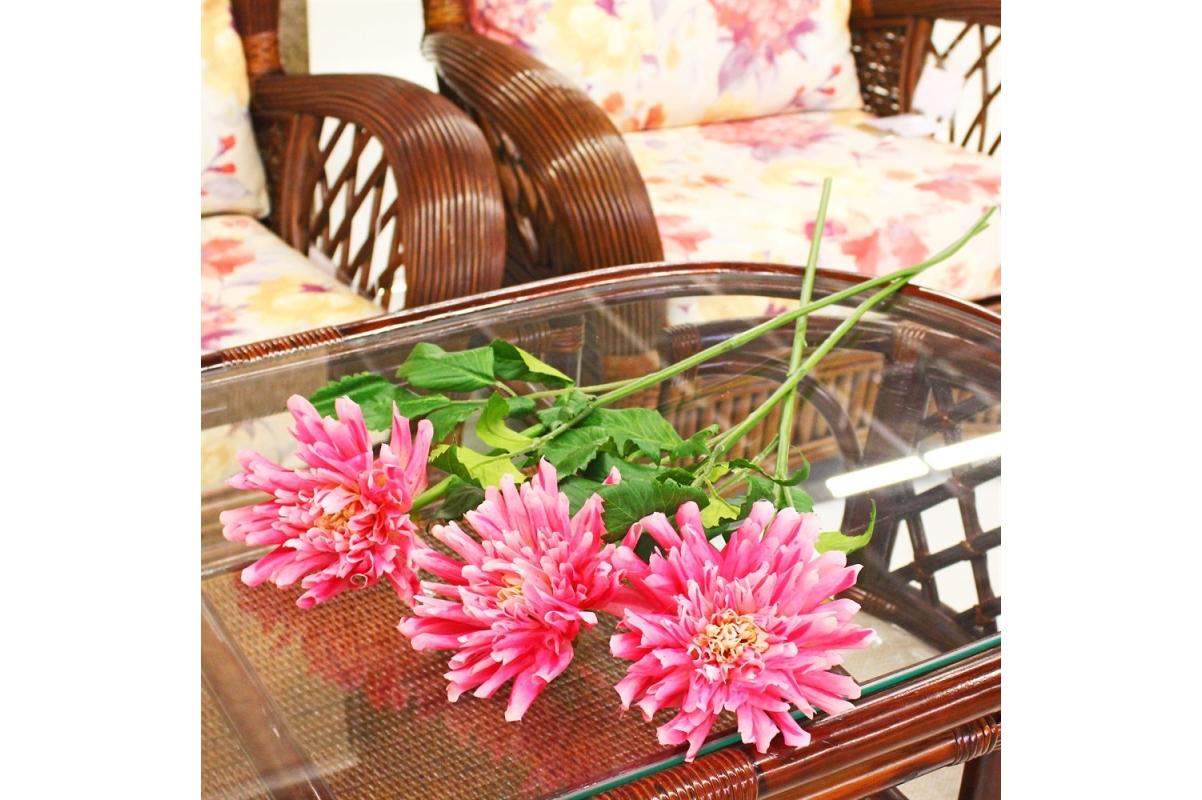 Георгин искусственный розовый 78 см - Фото 2