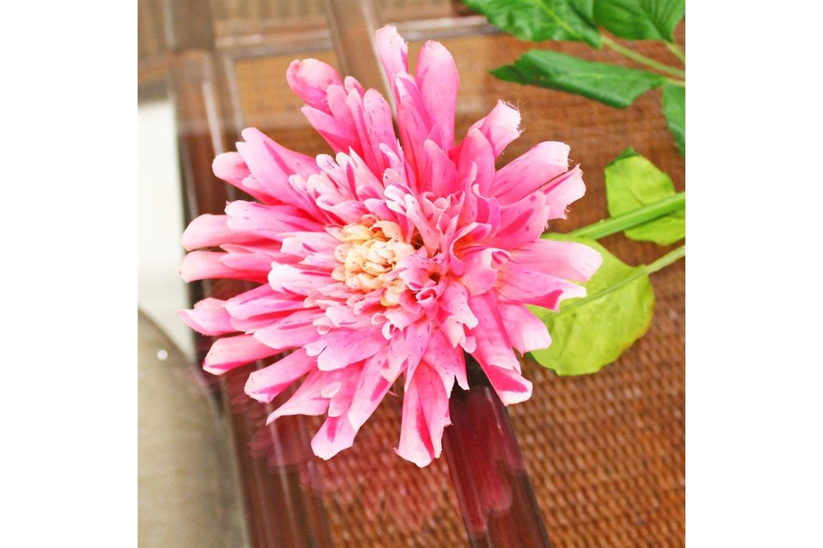 Георгин искусственный розовый 78 см - Фото 3