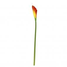 Калла искусственная желто-красная 90 см