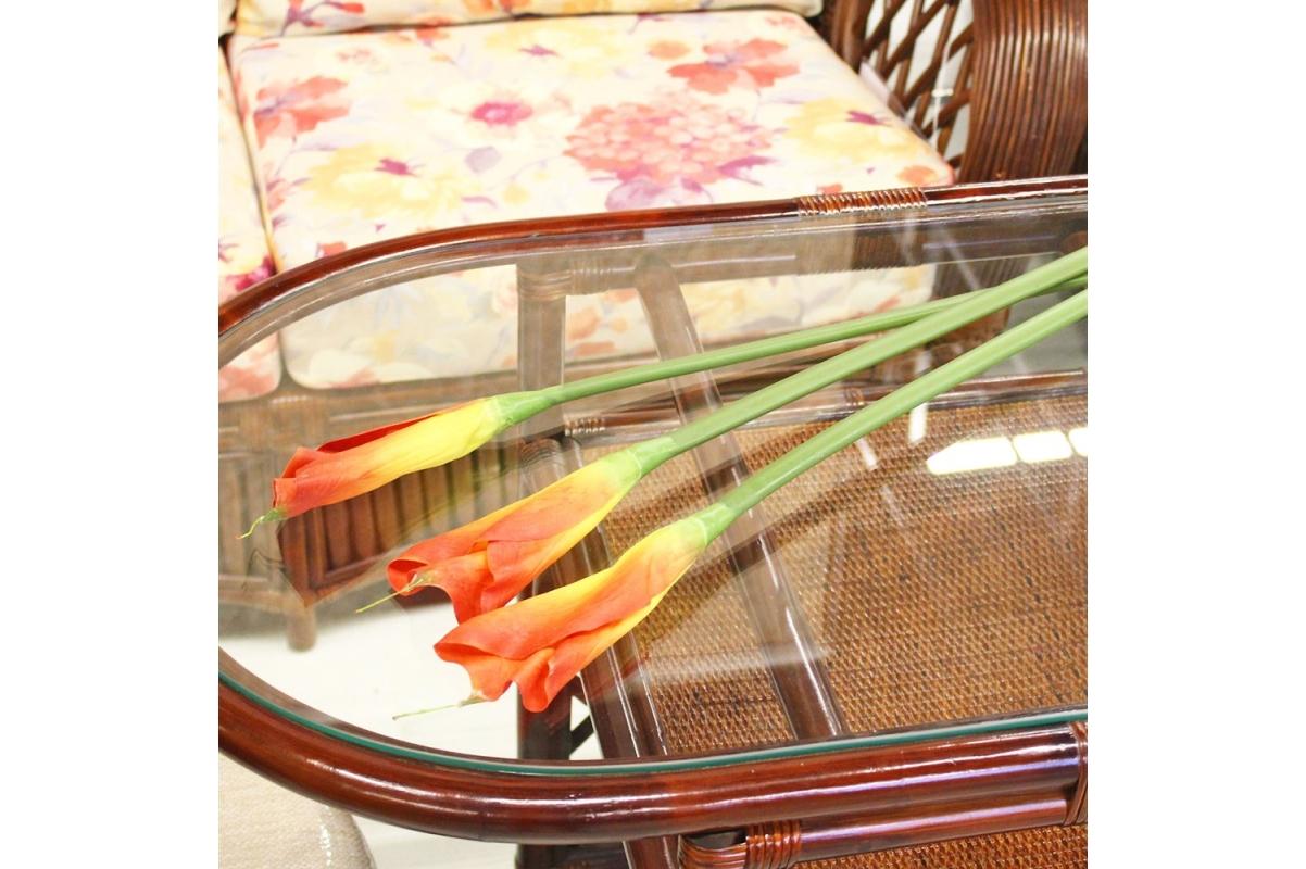 Калла искусственная желто-красная 90 см - Фото 2