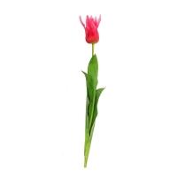 Тюльпан искусственный розовый 73 см (Real Touch)