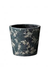 Кашпо deroma tea vaso 15 grey d15 h13 см