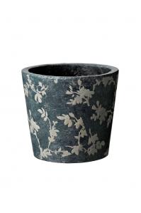 Кашпо deroma tea vaso 18 grey d18 h16 см