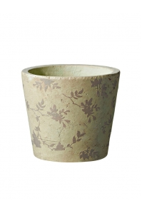 Кашпо deroma tea vaso 18 beige d18 h16 см