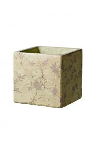 Кашпо deroma tea quadro 16 beige l16 w16 h15 см