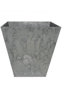 Кашпо artstone ella pot grey l15 w15 h15 см